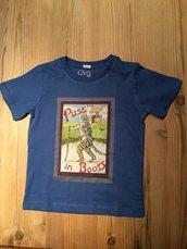 maglietta in cotone stampato con illustrazione 2/3anni.
