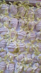 Dolcetti cupcake segnaposto - bomboniera gesso