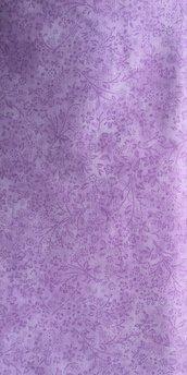 TESSUTI AMERICANI PER REALIZZAZIONI PATCHWORK -  lilla finto tinta unita con fiorellini tono su tono (6)