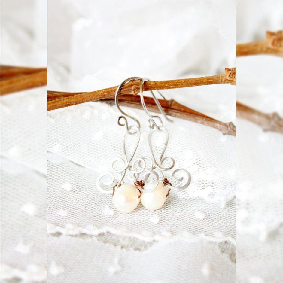 Matrimonio Orecchini perle d'acqua dolce