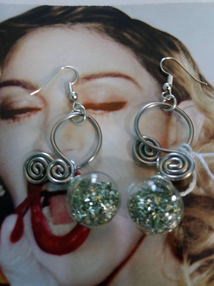 orecchini wire verdi