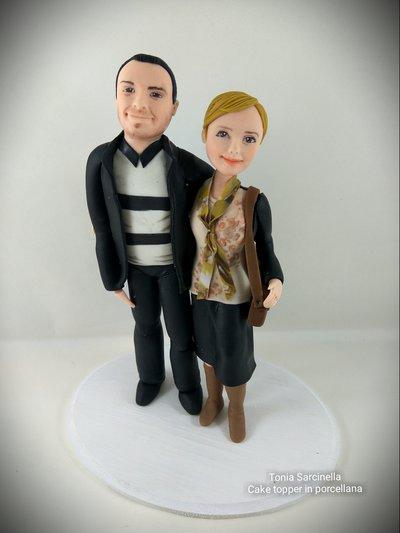 Cake topper anniversario di matrimonio