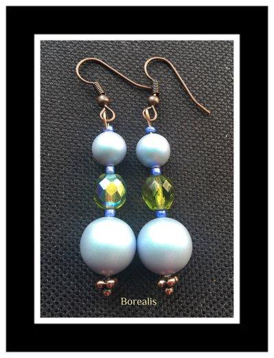 Orecchini Pendenti Perle Swarosvki Cristalli di Boemia