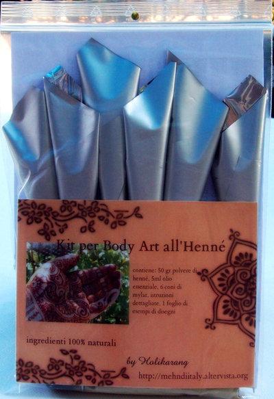 Kit base per arte dell'henné