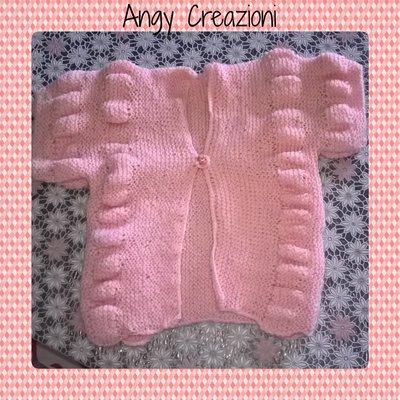 Maglia o gilet di lana per neonato