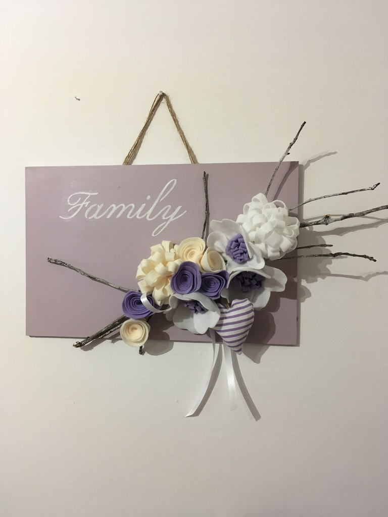 Quadro con decorazione floreale