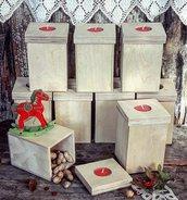 Scatola di legno, con portacandela