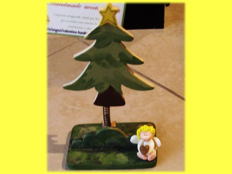 Portafoto alberello Angelo regalo Natale