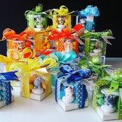 Bomboniera animaletti di zucchero - bomboniera comunione - bomboniera nascita - bomboniera compleanno - confettata battesimo - confettata nascita - confettata compleanno - bomboniera con animali