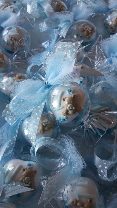 Caramella di confetti decorati - confettata nascita - confettata battesimo - bomboniere originali - bomboniere nascita