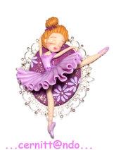 Collanina Ballerina lilla