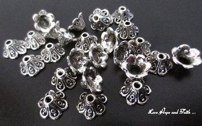 LOTTO 5 copriperla argento (5x10mm) (cod.00109)