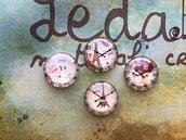 Lotto 4 cabochon Orologi vintage mod.089