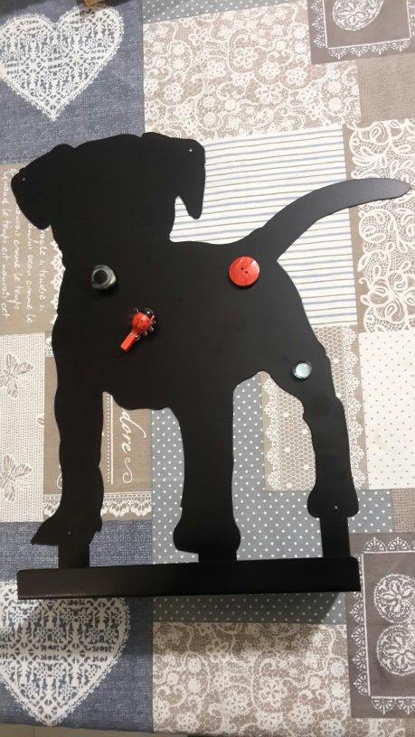 cane da parete  pannello con mensola portacalamite svuotatasche