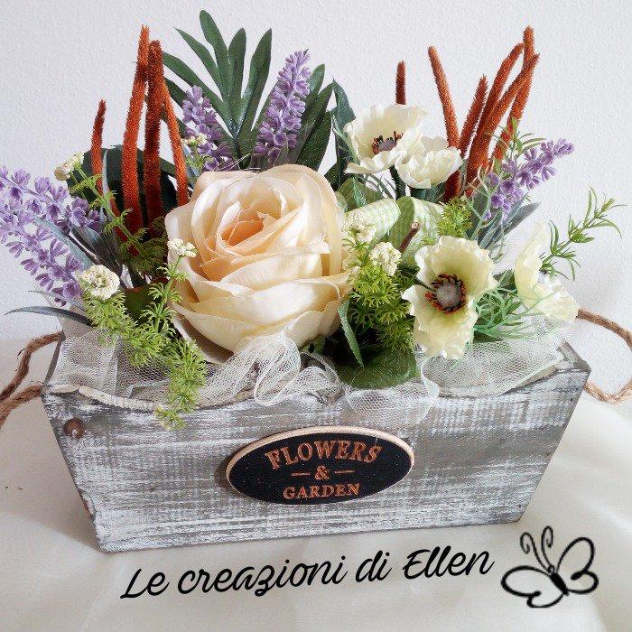 Centrotavola vaso floreale country chic - Per la casa e ...