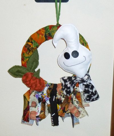Ghirlanda halloween con fantasmino #1