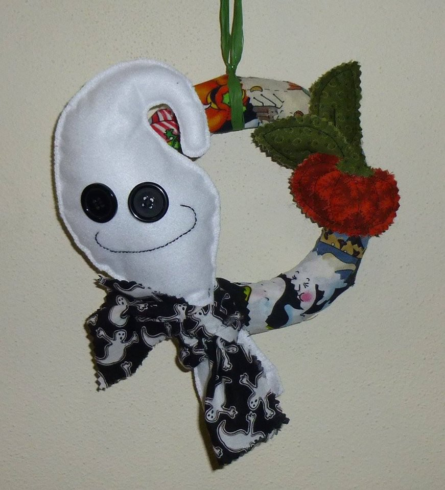 Ghirlanda halloween con fantasmino #3