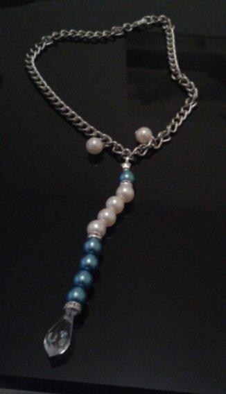 Collana con catena e perle