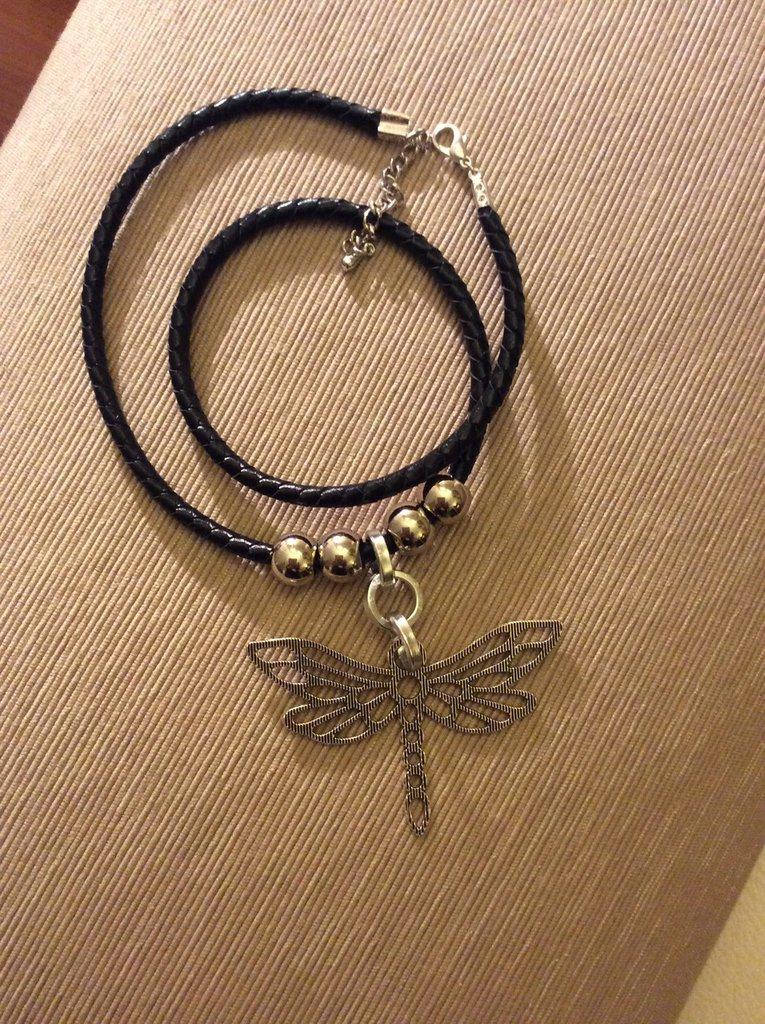 Collana libellula metallo