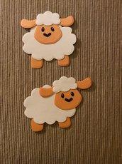 due pecorelle decorative