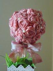 Alberello di rose in organza