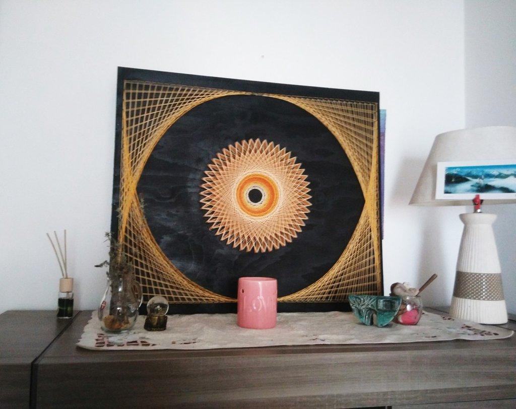 The hole , quadro fatto a mano con metodo STRING