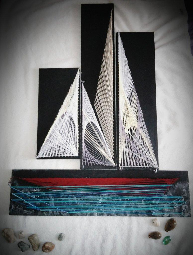Barca a vela : Quadro fatto a mano