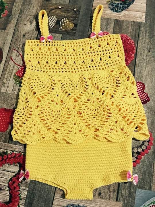 vestitino uncinetto giallo