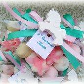Bomboniera con marshmallows e gessi profumati