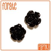 2 Perline Rose forate 14mm