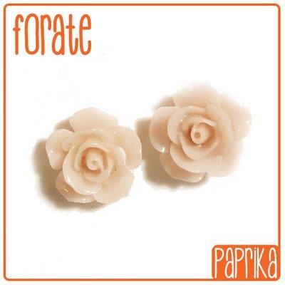 2 Perline Rose forate 14mm