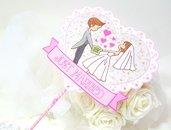 Cake topper matrimonio wedding sposi innamorati