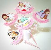 Cake topper Battesimo dolls