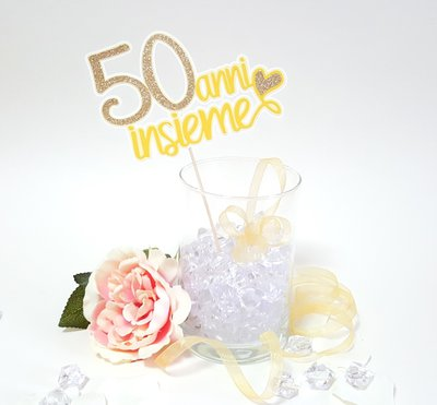 Anniversario Matrimonio Oro.Cake Topper Anniversario Nozze D Oro Cake Design Cake Topper
