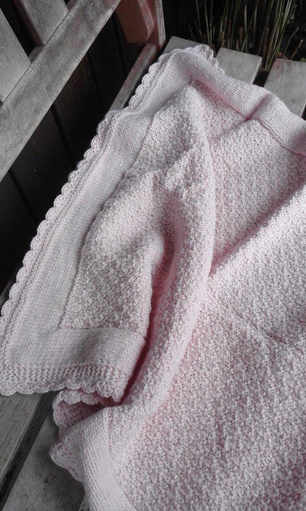 copertina baby misto lana nuova fatta a mano