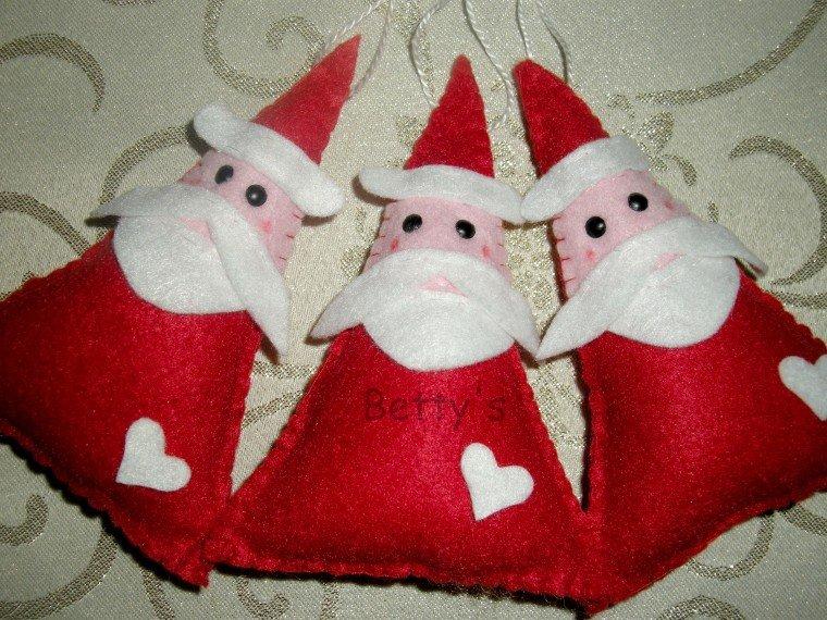 Popolare Babbo Natale pannolenci - Feste - Natale - di Betty's heart | su  AB81