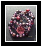 Bracciale Molla Armonica Argilla Polimerica Perle di Boemia
