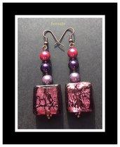 Orecchini Vetro Artigianale e Perle di Boemia