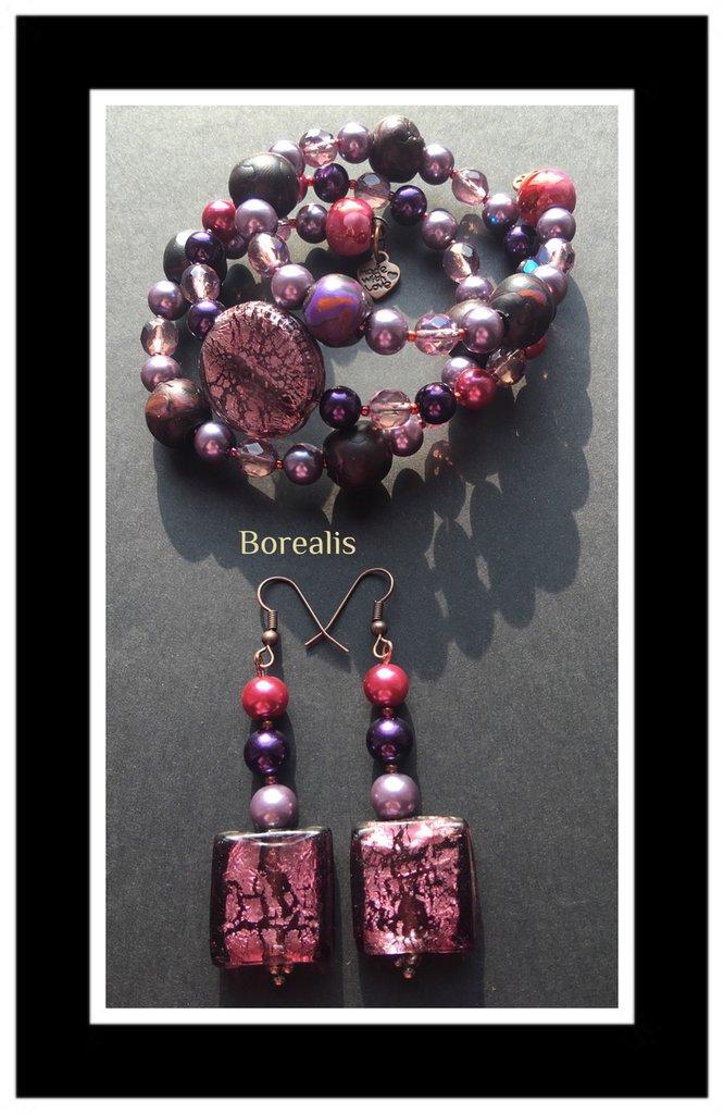 Parure Molla Armonica Argilla Polimerica Perle di Boemia