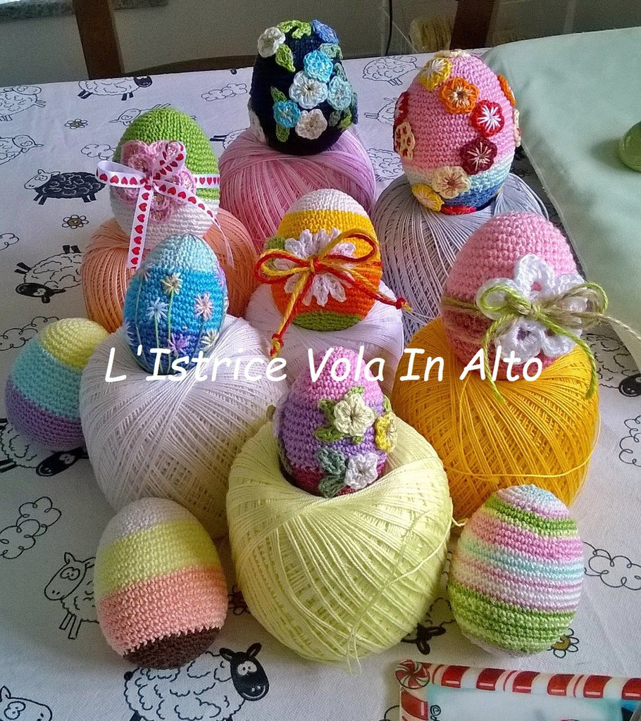 Uova di Pasqua ad uncinetto