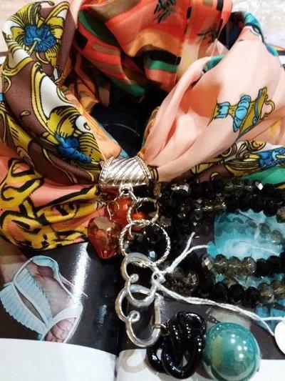 foulard corto multicolor