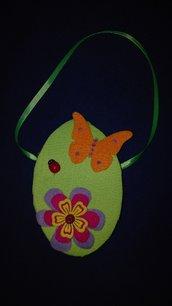 Borsetta di feltro per bimba , idea regalo per Pasqua