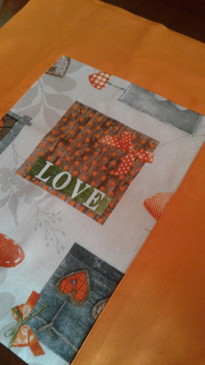 Runner shabby arancio