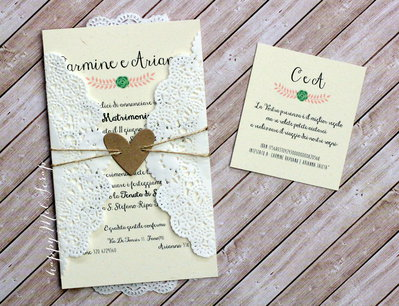 """Partecipazione di nozze """"Brigitte"""""""