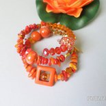 bracciale trend alta moda donna tono arancio molto lucente
