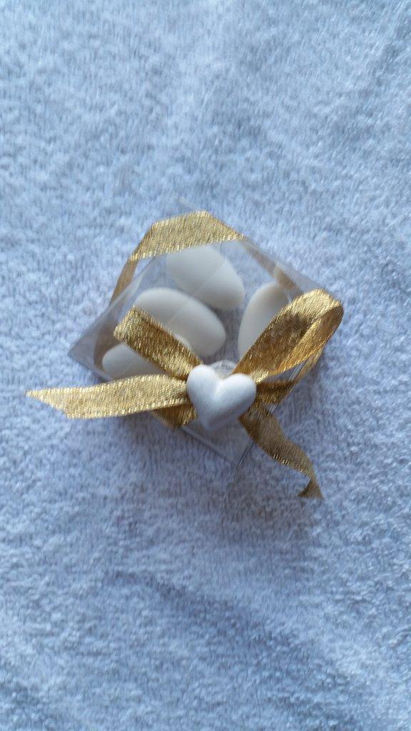 Bomboniera scatolina per nozze d'oro