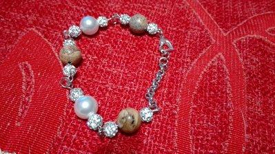 Bracciale con perle swarovsky