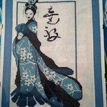 La geisha. Quadro punto e croce