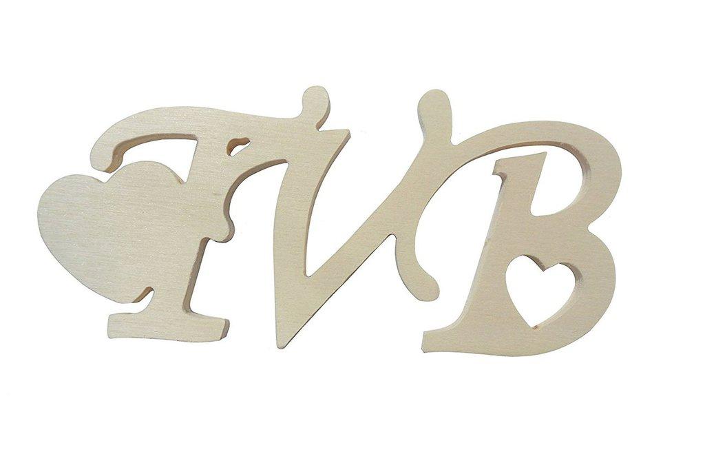 Scritta in legno tvb 2 pezzi