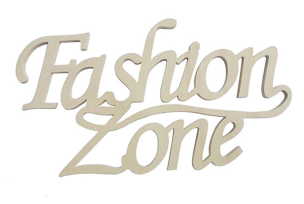 """Scritta in legno """"fashion zone"""""""